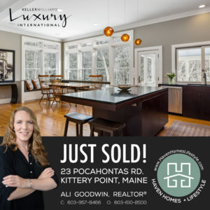 Just Sold! 23 Pocahontas Rd., Kittery Point, ME